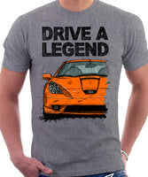 Drive A Legend Toyota Celica 7 Generation Prefacelift Model. T-shirt in Heather Grey Colour