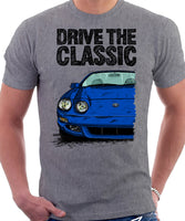 Drive The Classic Toyota Celica 6 Generation Facelift. T-shirt in Heather Grey Colour