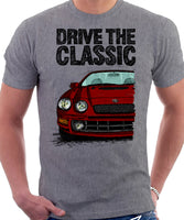 Drive The Classic Toyota Celica 6 Generation ST205 GT4. T-shirt in Heather Grey Colour