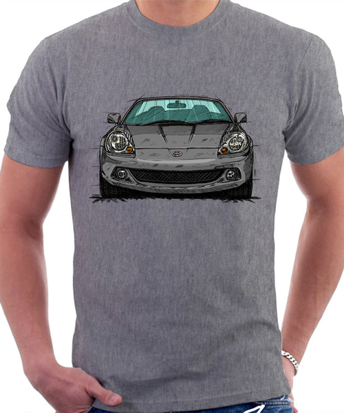 Toyota MR2 Mk3 Late Model T-shirt in Heather Grey Colour