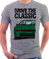 Drive The Classic Toyota Supra Mk3 Early Model. T-shirt in Heather Grey Colour