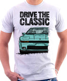 Drive The Classic Toyota Supra Mk3 Early Model. T-shirt in White Colour