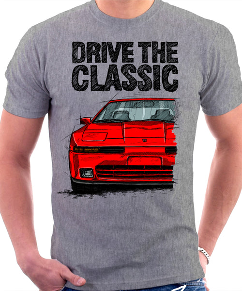 Drive The Classic Toyota Supra Mk3 Late Model. T-shirt in Heather Grey Colour