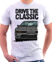 Drive The Classic Toyota Supra Mk3 Late Model. T-shirt in White Colour