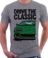 Drive The Classic Toyota Supra Mk4. T-shirt in Heather Grey Colour