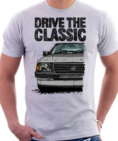 Drive The Classic Vauxhall Nova Early Model. T-shirt in White Colour