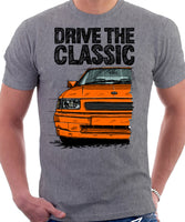 Drive The Classic Vauxhall Nova GSI. T-shirt in Heather Grey Colour