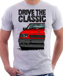 Drive The Classic Vauxhall Nova Late Model. T-shirt in White Colour