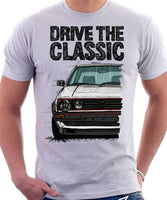 Drive The Classic VW Golf Mk2 GTI Early Model. T-shirt in White Colour