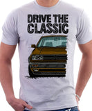 Drive The Classic VW Golf Mk2 Rallye. T-shirt in White Colour