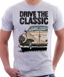 Drive The Classic VW Karmann Ghia Early Model. T-shirt in White Colour