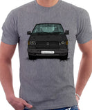 VW Transporter T4 Early Model Black Bumper . T-shirt in Heather Grey Colour
