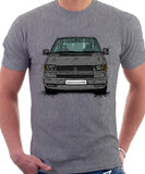 VW Transporter T4 Late Model Colour Bumper . T-shirt in Heather Grey Colour