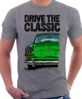 Drive The Classic VW Type 3 Late Model . T-shirt in Heather Grey Colour