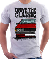 Drive The Classic VW Scirocco Mk2. T-shirt in White Colour