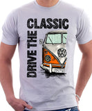 Drive The Classic VW T1 Splitscreen . T-shirt in White Colour