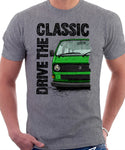 Drive The Classic VW T25 (T3) Water cooled . T-shirt in Heather Grey Colour