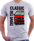 Drive The Classic VW T25 (T3) Square lights . T-shirt in White Colour