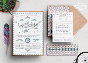 A6 Festival Feelings Themed Invitation Set