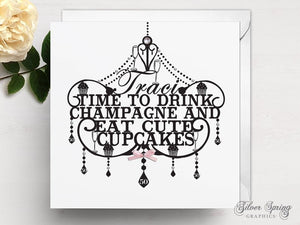 Personalised Chandelier Birthday Card