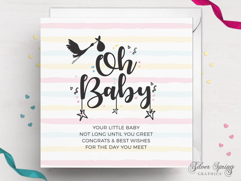 Candy Floss Cuddles - Expecting Parent/s Card