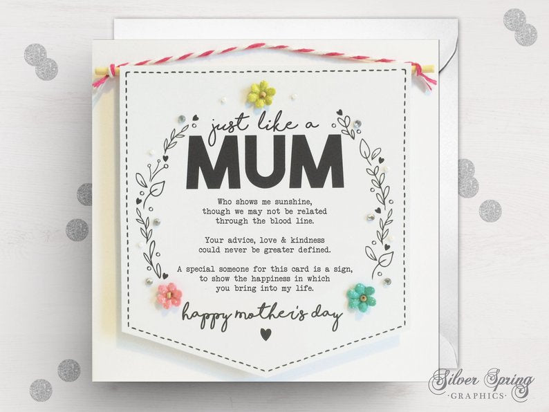 Mother's Day - Just Like a Mum Banner Card