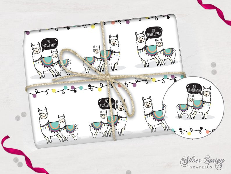 Llama Without the Drama - Wrapping Paper
