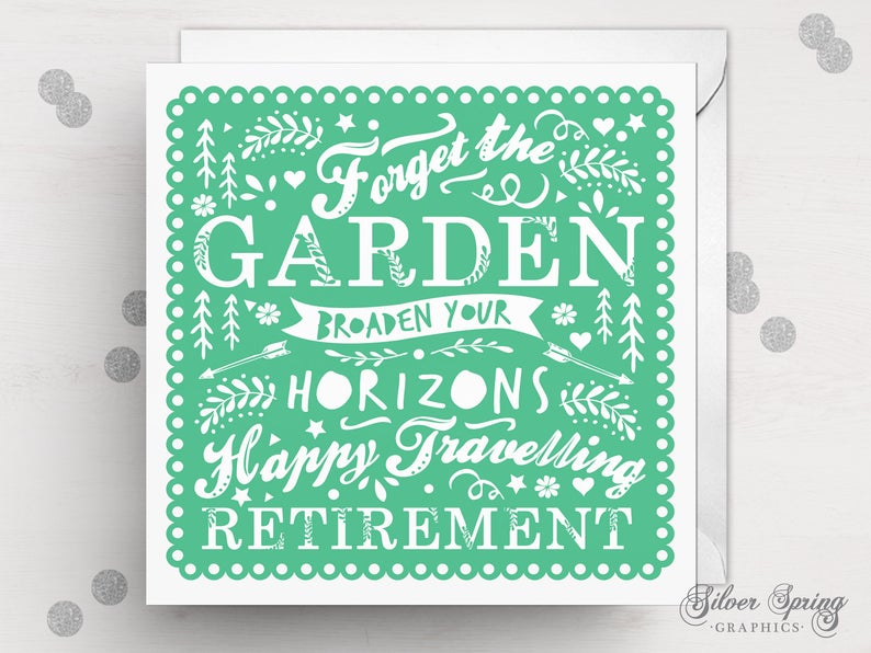 Well Wishes Retirement Card - Green