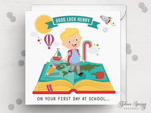 School Days Card - First Day at School Card