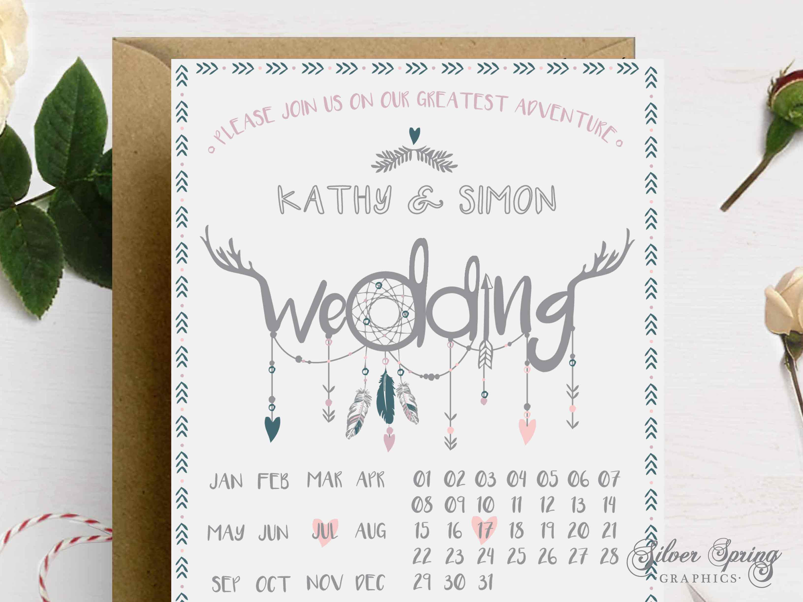 A6 Festival Feelings Themed Save the Date