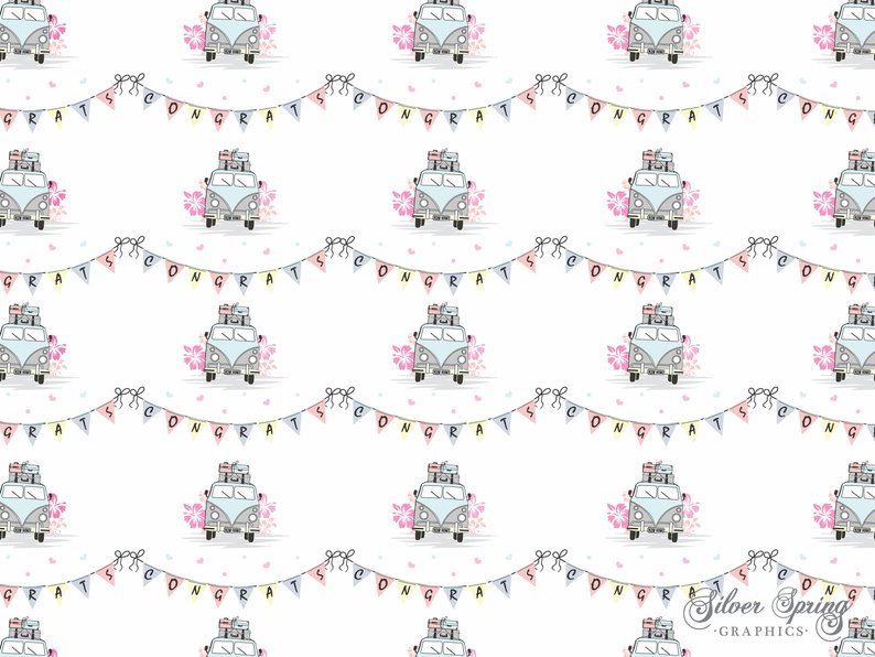 Campervan Congrats New Home Wrapping Paper