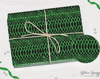 Wonders of the Wild - Wrapping Paper - Snakeskin