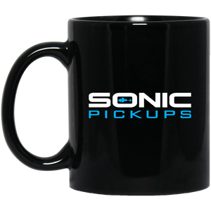 Sonic Pickups Logo - 11 oz. Black Mug