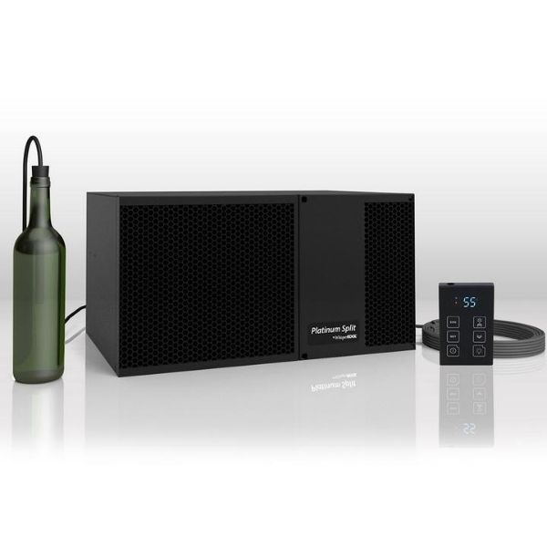 Whisperkool Ductless Split System Wine Cellar Cooling Unit with Remote and Bottle Probe
