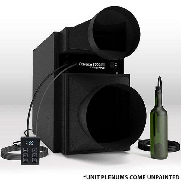 Whipserkool Ducted Self Contained Wine Cellar Cooling Unit with remote and bottle probe
