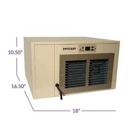 Breezaire 2200 WKCE Wine Cellar Cooling Unit Dimensions