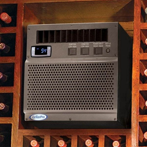 CellarPro 2000VSi Wine Cellar Cooling Unit Installed in Wine Celalr
