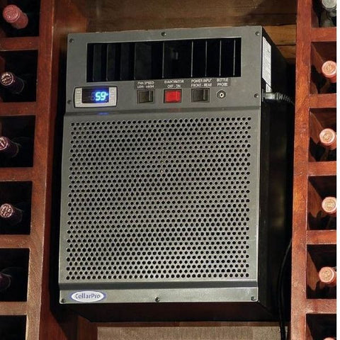 CellarPro 8200 VSi Wine Cellar Cooling Unit- In a wine cellar