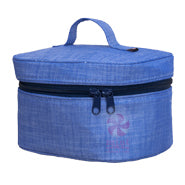 Navy Chambray Train Case
