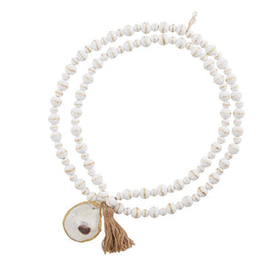 White Oyster Decorative Beads