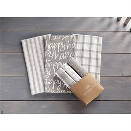 Happy Dish Towel Set