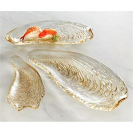 SM Metallic Oyster Glass Tray