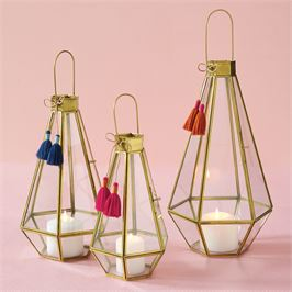 Faceted Glass Lantern