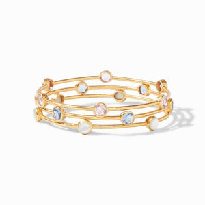 Milano Bangle Gold Clear Crystal