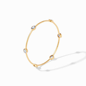 Milano Bangle Gold Chalcedony Blue