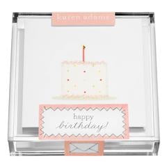 "Acrylic Box Enclosures ""Birthday Cake"""