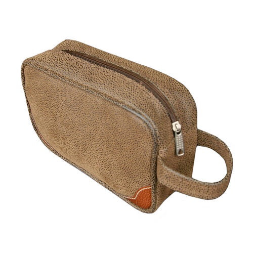 Suede Scotch Grain Dopp Kit