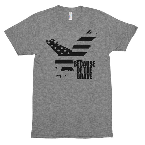 "Men's Triblend ""Because of the Brave"" tee"