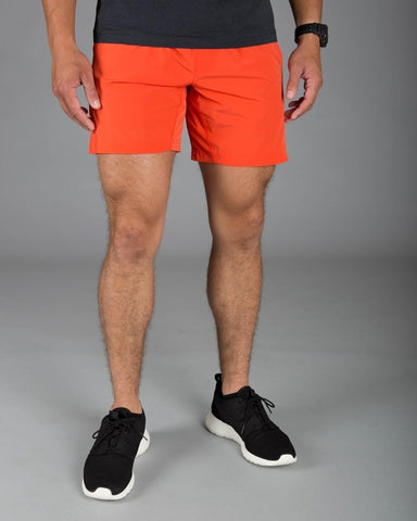 Orange Muscle Shorts