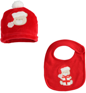 Babys 1st Christmas Hat and Bib Set 41087 71 2253